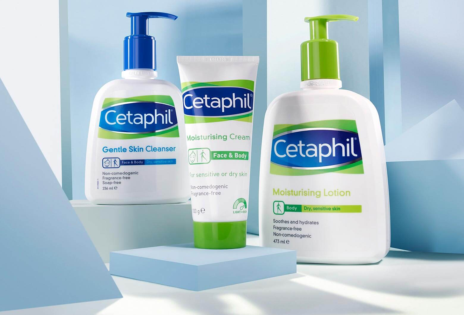 A range of Cetaphil products