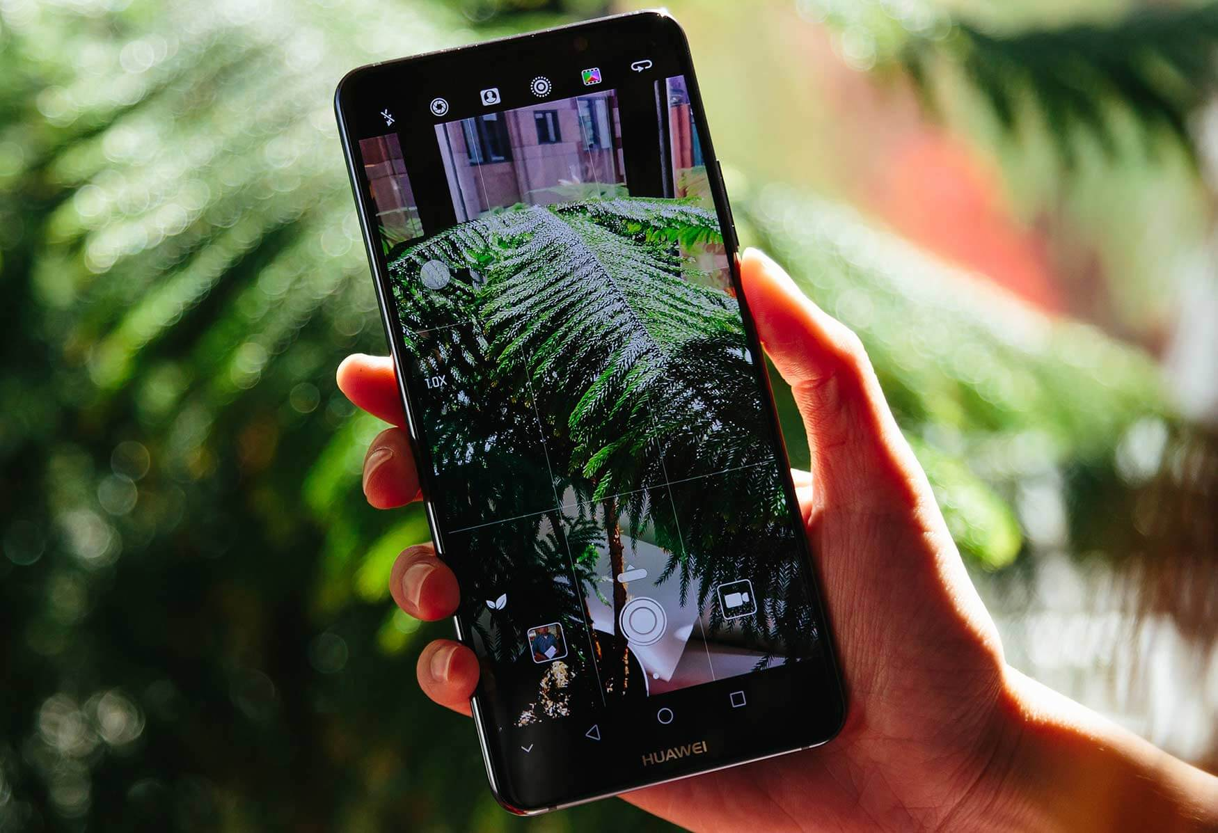 Huawei phone demonstrating Scene Recognition feature